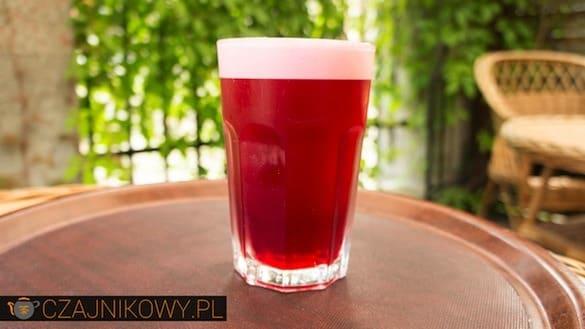 Mrożona Herbata: Hibiskus z Pianką prawie jak Piwo