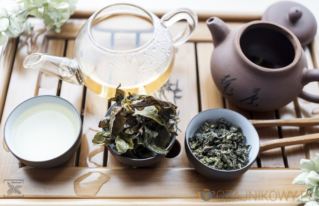 Herbata Mleczny Oolong: liście po zaparzeniu
