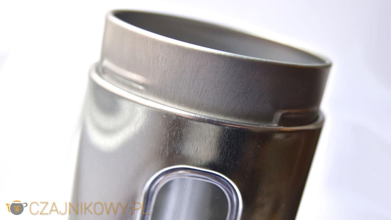 Metalowa puszka na herbatę z okienkiem 150g