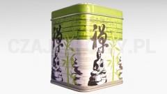 Puszka na herbatę zielona Budda