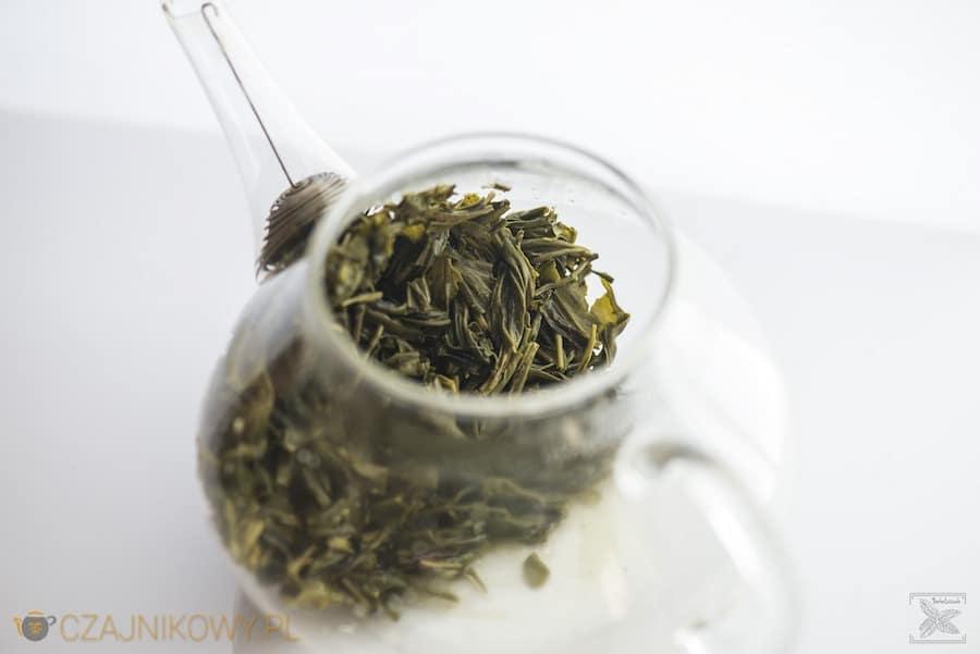 Zielona herbata En Shi Yu Lu, liście po zaparzeniu
