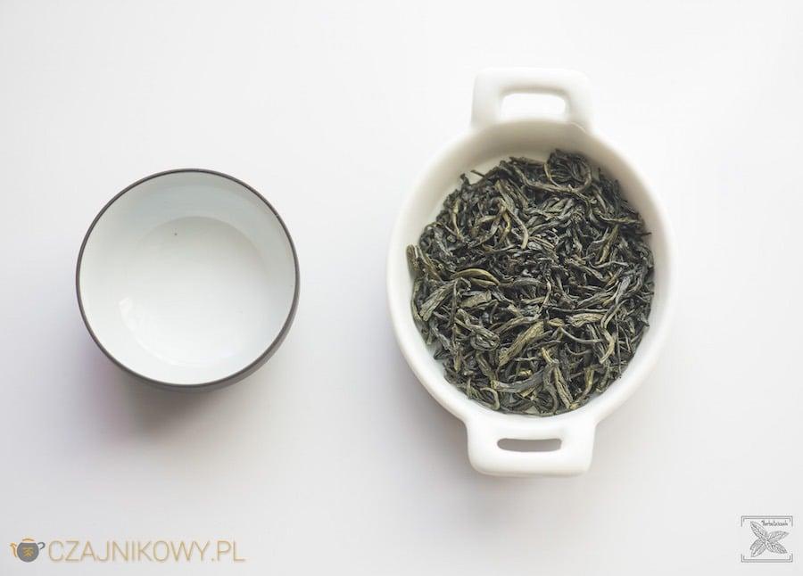 Zielona herbata En Shi Yu Lu, susz