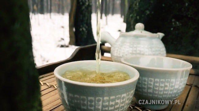 Herbata zielona Jeoncha, napar