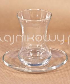 Szklanka do tureckiej herbaty tulipanek ze spodkiem