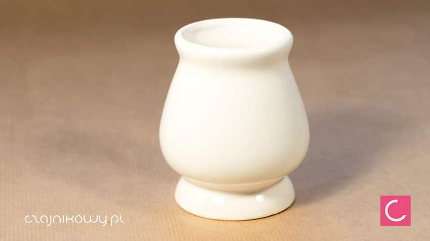 Matero do yerba mate klasyczne białe gruszka