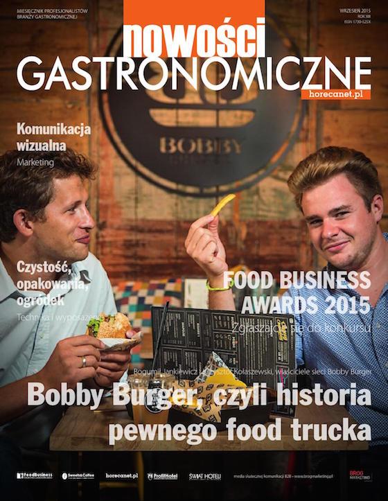 Nowości Gastronomiczne, wrzesień 2015 okładka