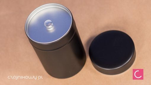 Puszka na herbatę czarna podwójne zamknięcie 75g