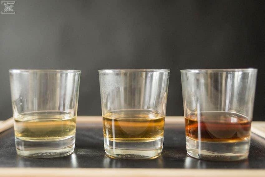 Herbata Darjeeling porównanie, od lewej: Darjeeling Mim, Frost Tea, nieznany