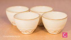 Japoński czajnik Cream do herbaty 0,6l + 4 czarki