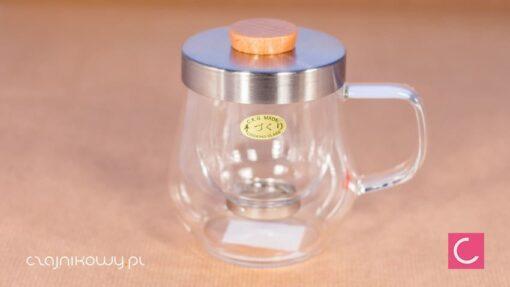 Szklany kubek z zaparzaczem do herbaty 450ml