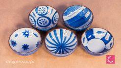 5 czarek do herbaty komplet Tokyo Japan