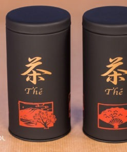 2 puszki do herbaty czarne matowe zestaw