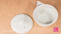 Hohin do herbaty biały klasyczny porcelanowy