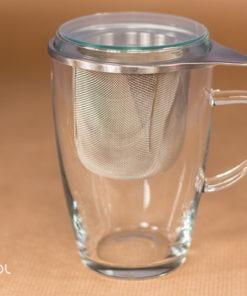 Kubek szklany do parzenia herbaty 0,35l
