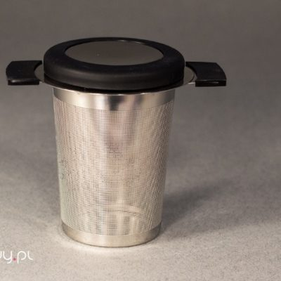 Zaparzacz metalowy z wieczkiem 7,5cm prześwit 0,5mm