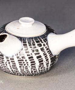 Czajnik do herbaty Biały kora porcelana 300ml ceramika artystyczna