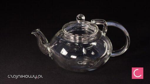 Czajnik szklany do herbaty ze spiralnym sitkiem 450ml