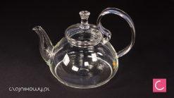 Czajnik szklany do herbaty ze spiralnym sitkiem 800ml