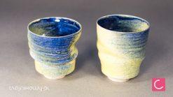 Dwa kubki do herbaty lata 80 porcelana ceramika artystyczna