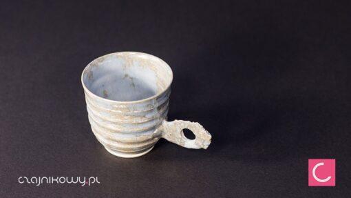 Filiżanka do kawy espresso szara porcelana 60ml ceramika artystyczna