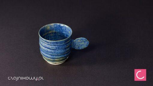 Filiżanka do kawy espresso niebieska porcelana 60ml ceramika artystyczna