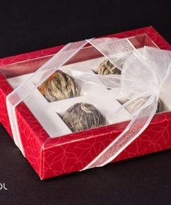 Herbata Artystyczna Rozwijająca się Bombonierka Red