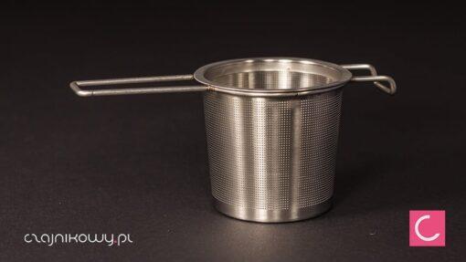 Sitko do herbaty, metalowe z rączką super gęste