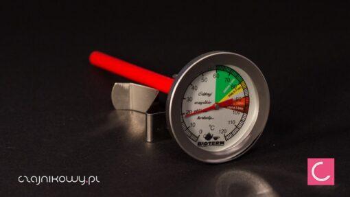 Termometr do herbaty z oznaczeniem właściwych temperatur