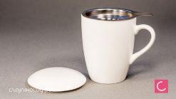 Najlepszy kubek do parzenia herbaty 0,35l biały