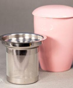 Najlepszy kubek do parzenia herbaty 0,35l różowy