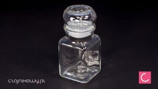 Szklany pojemnik na herbatę 40g szczelne zamknięcie