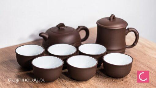 Zestaw do parzenia herbaty Yixing: czajnik 280ml, 6 czarek, kubek