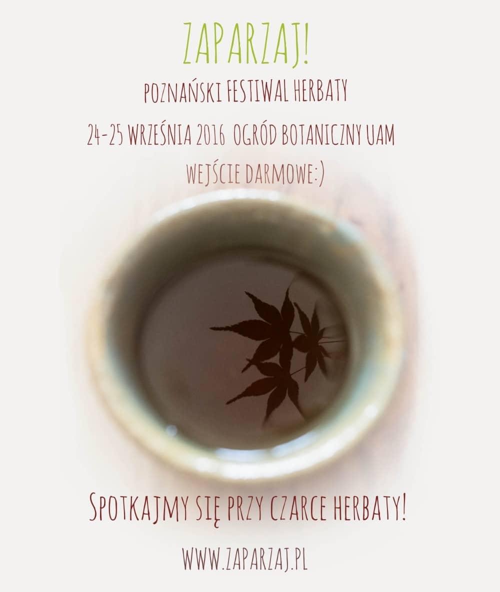 Poznański Festiwal Herbaty Zaparzaj! Plakat