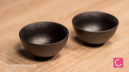 Dwie czarki do herbaty Geom koreańskie 55ml z bliska