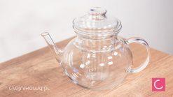 Czajnik szklany do herbaty z zaparzaczem duży 1,1l