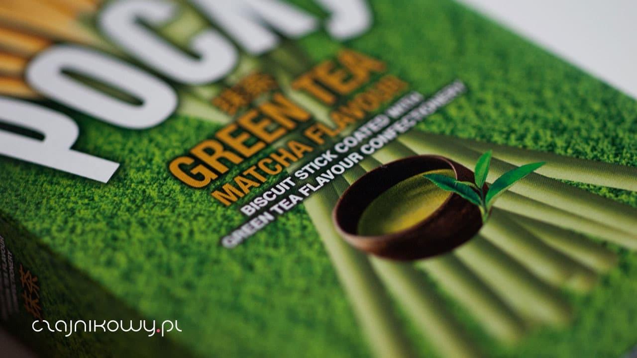 Pocky Green Tea Matcha Paluszki pszenne w polewie mlecznej Matcha, opinie - opakowanie
