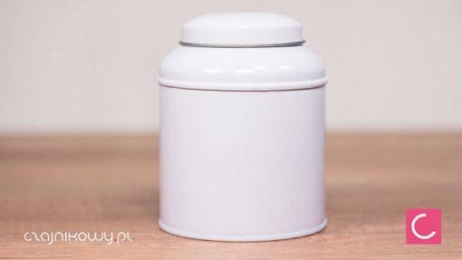 Puszka na herbatę bańka biała 150g