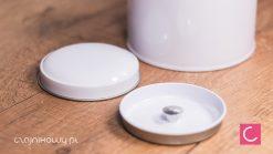 Puszka na herbatę bańka biała 150gPuszka na herbatę bańka biała 150g