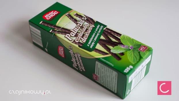 Paluszki Mister Choc z czekolady deserowej z nadzieniem o smaku mięty i zielonej herbaty, opinie