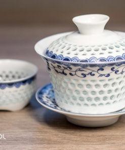 Gaiwan do herbaty Bailan 150 ml + czarka 60 ml