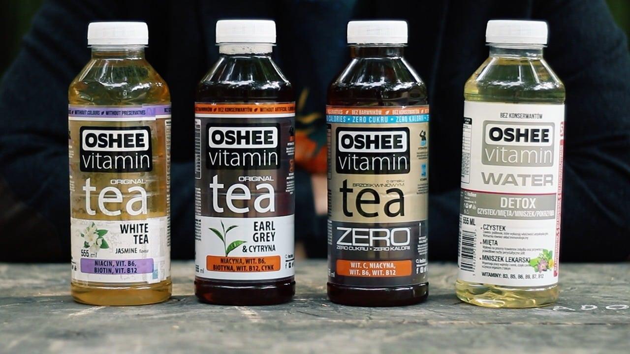 Oshee Vitamin Tea Earl Grey Lemon, Zero, White Tea Jasmine, Water Detox, opinie