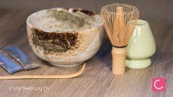 Zestaw do herbaty Matcha: Matchawan, Chasen, Chashaku, stojak, herbata