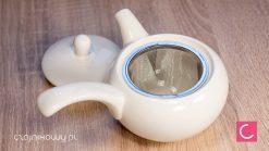 Czajnik do herbaty porcelanowy Sujitra 380ml + 2 czarki