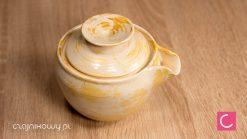 Hohin do herbaty żółty porcelana 260 ml ceramika artystyczna