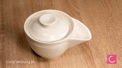 Hohin do herbaty biały porcelana 180 ml ceramika artystyczna