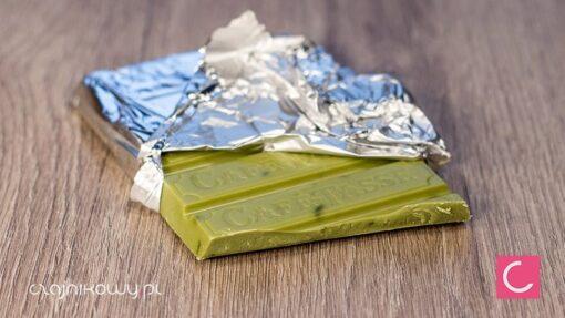 Czekolada biała o smaku zielonej herbaty Matcha 85g