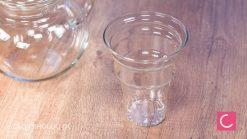Czajnik szklany do herbaty z zaparzaczem duży 1,1l z dzióbkiem