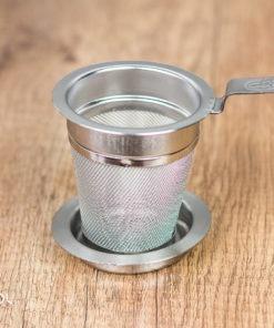 Zaparzacz sitko do herbaty metalowy z podstawką 5 cm