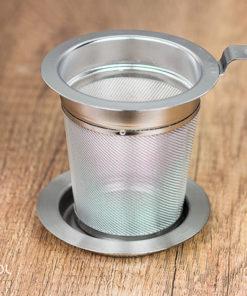 Zaparzacz sitko do herbaty metalowy z podstawką 6 cm