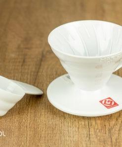 Dripper do kawy Hario V60-01 plastikowy biały